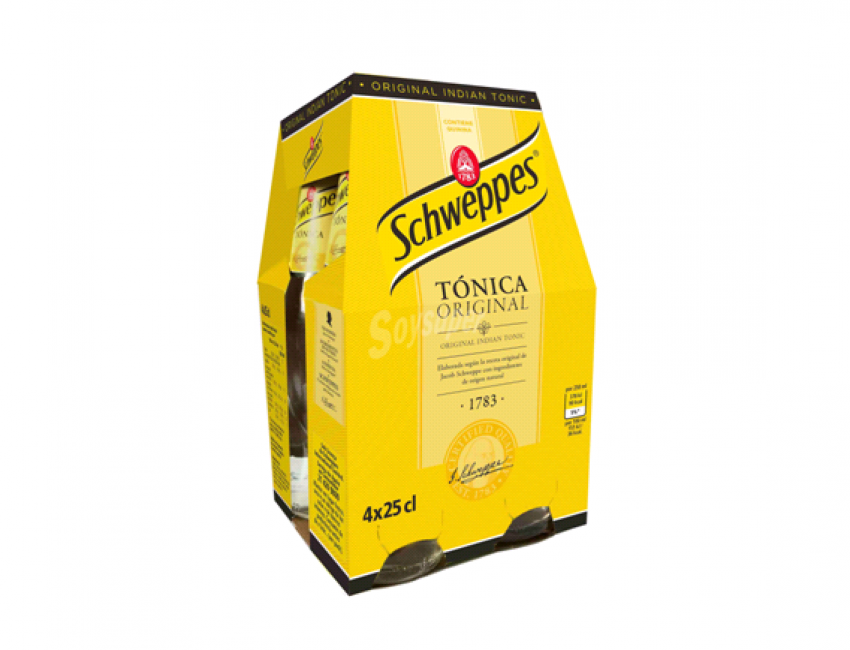 GM DISTRIBUCIÓN – Tónica Schweppes botellín 25cl pack 4