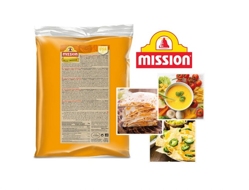 MISSION – Salsa de queso cheddar